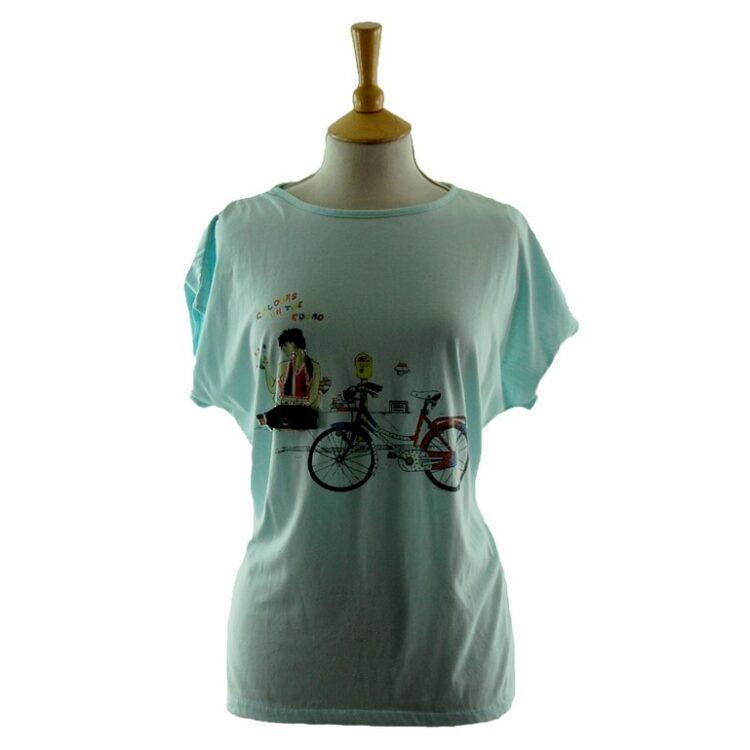 Womens Graphic Tee Shirt 80s Style
