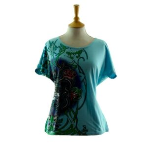Womens True Love Crazy Printed 80s T Shirt