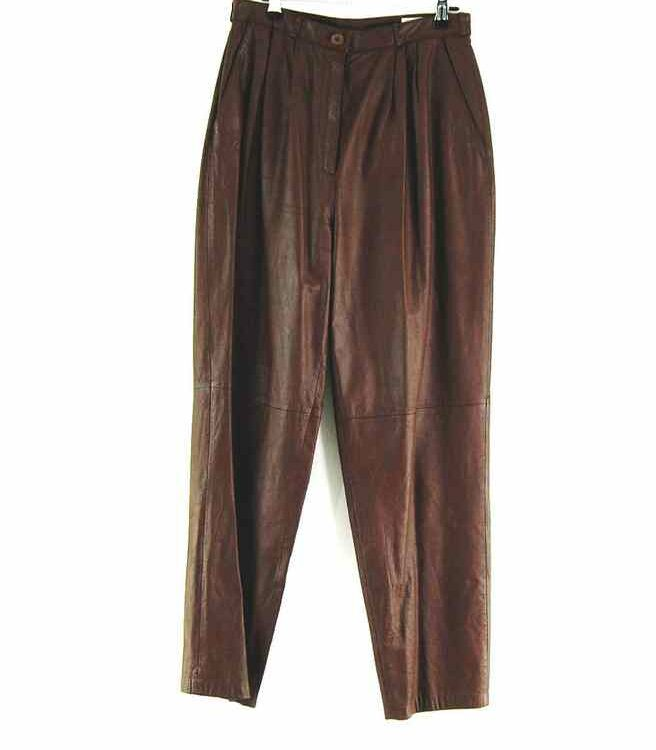 90s Brown Leather Trousers