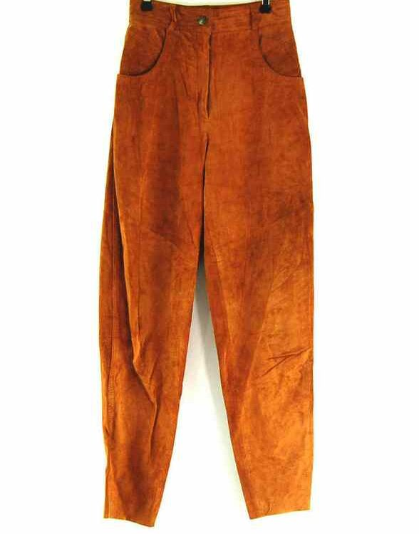 90s Brown Suede Trousers