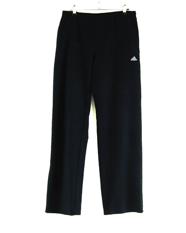 BLACK ADIDAS TRACKSUIT BOTTOMS