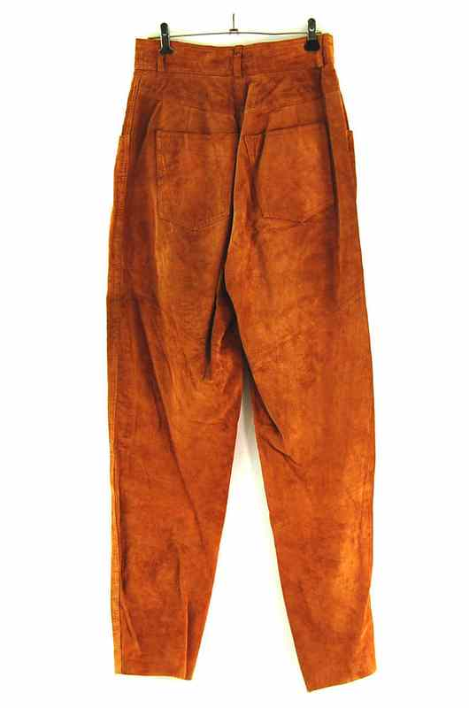 Back of 90s Brown Suede Trousers