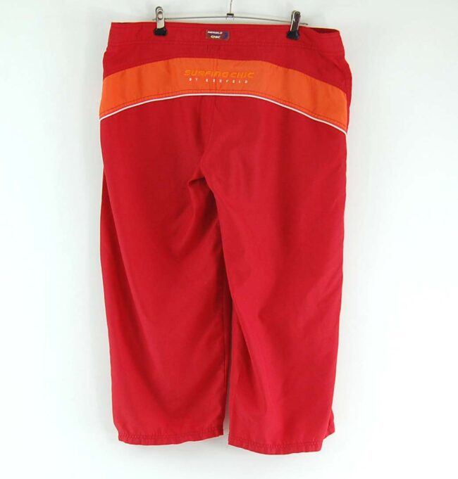 Red Kenvelo 3/4 length shorts back