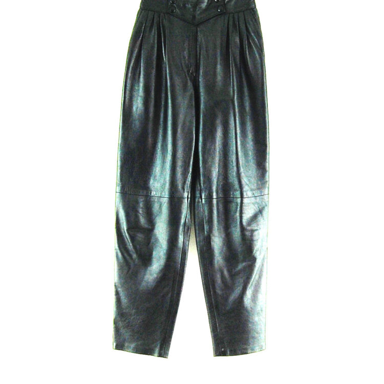 80s Black Leather Trousers