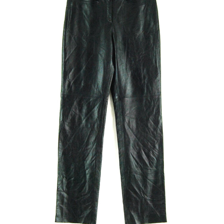 90s Straight Leg Leather Trousers