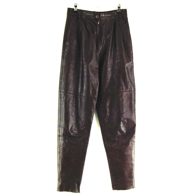 80s Brown Leather Trousers