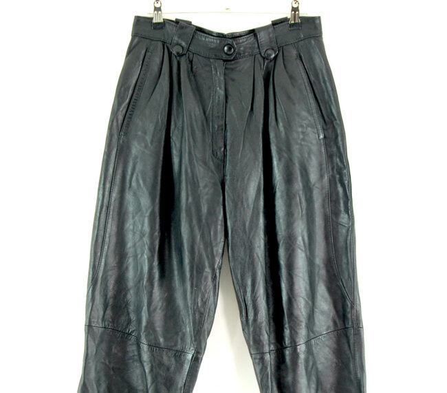 90s Leather Trousers close up