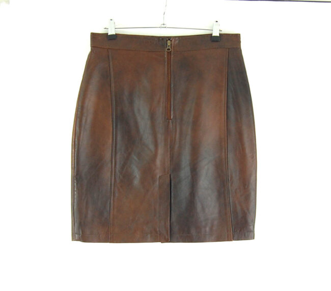 90s Patchwork Leather Skirt