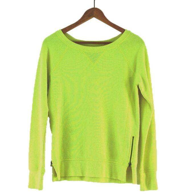 90s yellow Crew Neck Sweatshirt
