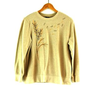 80s Leaves Crew Neck Sweatshirt