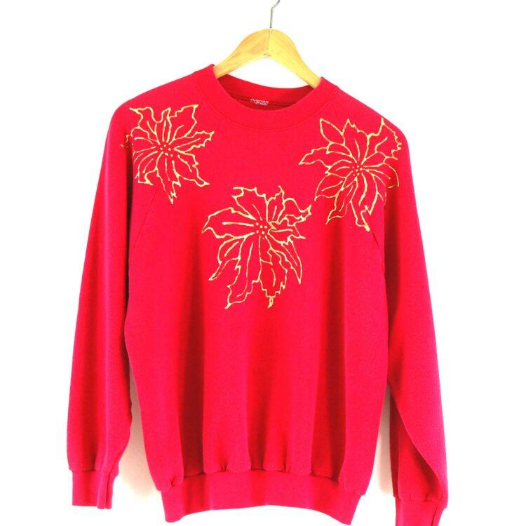 80s pink crew neck sweatshirt