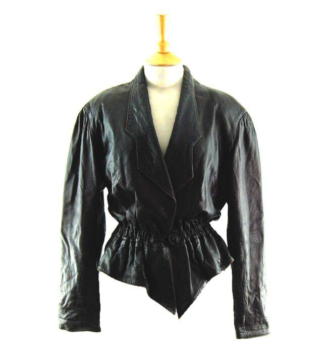 80s Cropped Elastic Waist Jacket