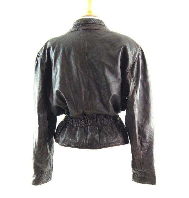 80s Cropped Elastic Waist Jacket Back