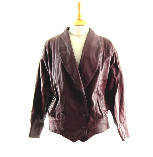80s Brown Leather Jacket