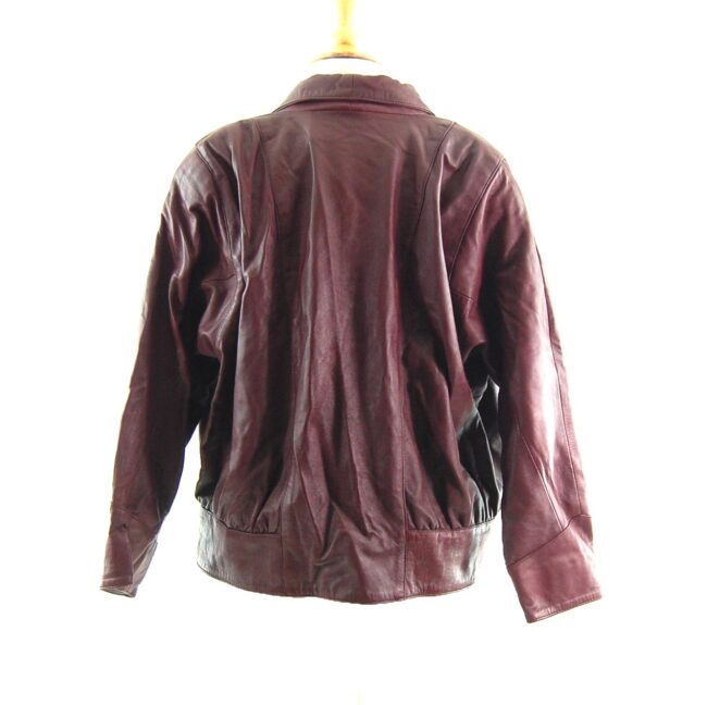 80s Brown Leather Jacket Back