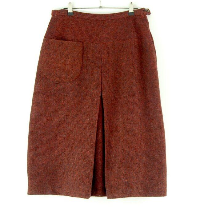 60s Red wool skirt