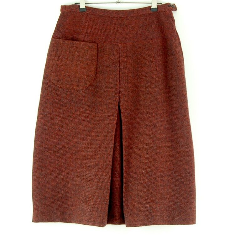 60s Red wool skirt