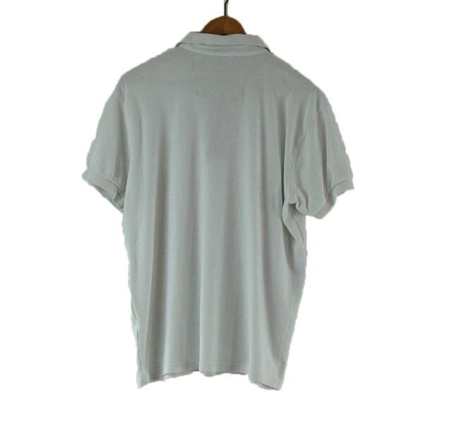 White Tommy Hilfiger Polo Shirt back