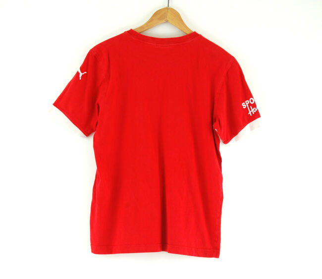 Red puma t-shirt back
