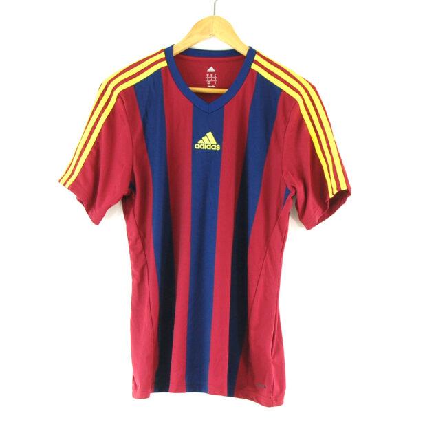 Adidas striped football t-shirt