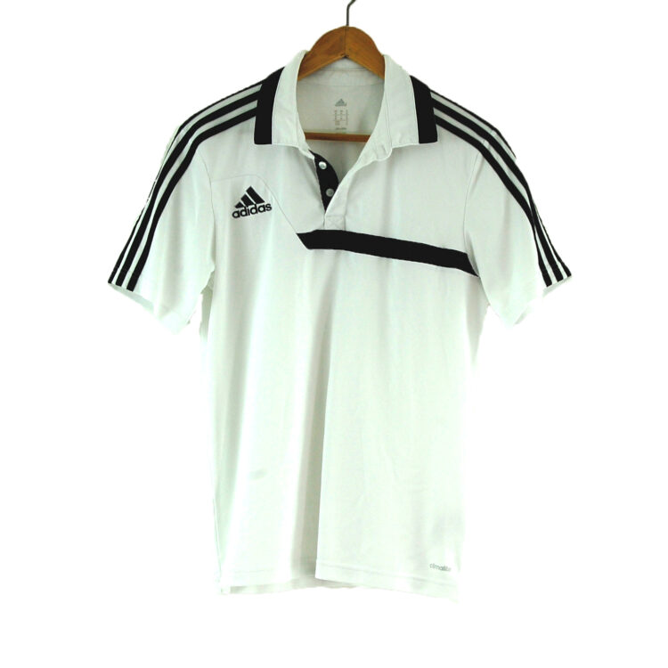 White Adidas Polo Shirt