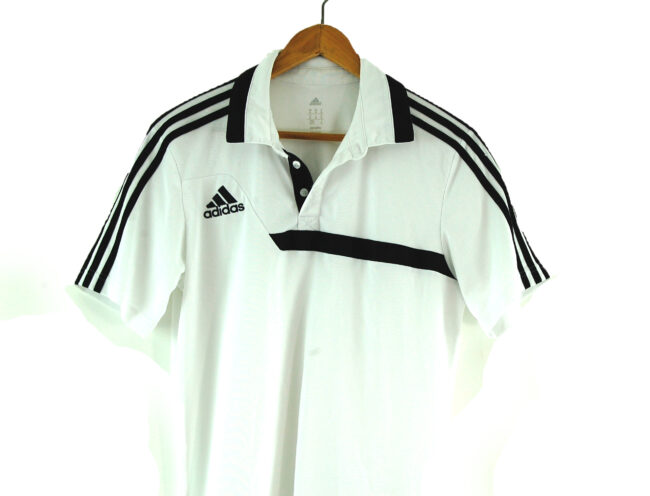 White Adidas Polo Shirt side