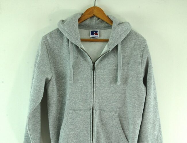 Front close up of Russell Zip Up Hoodie