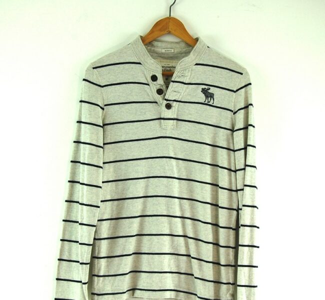 Abercrombie and Fitch long sleeve polo