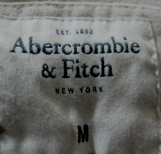 Abercrombie and Fitch long sleeve polo label