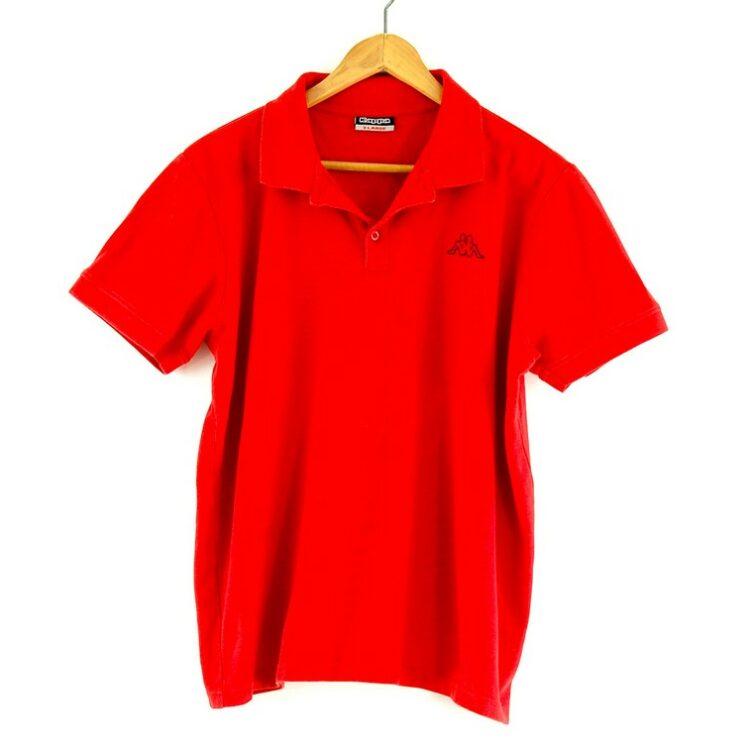 Red Kappa polo shirt