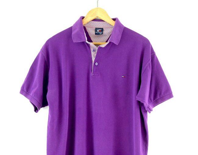 Tommy Hilfiger polo shirt close up