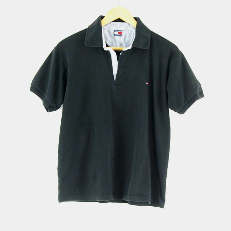 Black Tommy Hilfiger Polo Shirt