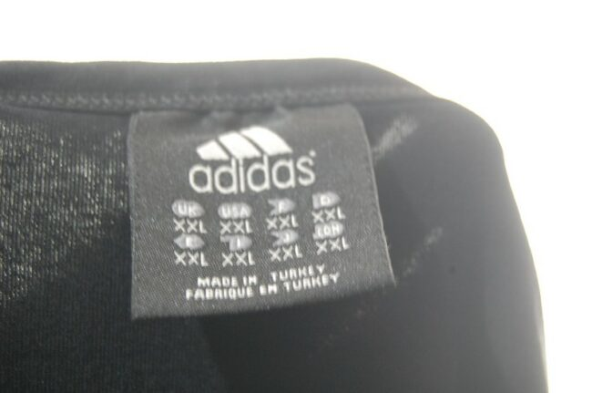 Adidas Black t-shirt label