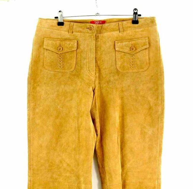 Front close up of 60s Style Suede Trousers