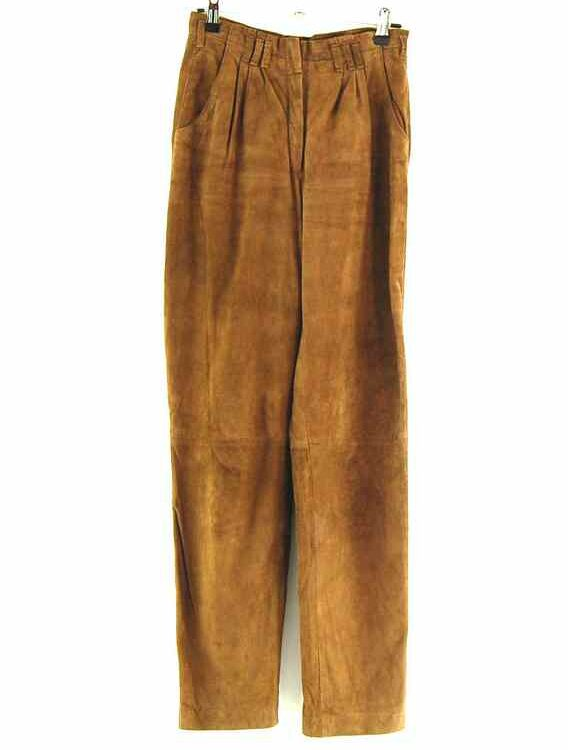 Front of 90s Suede Trousers