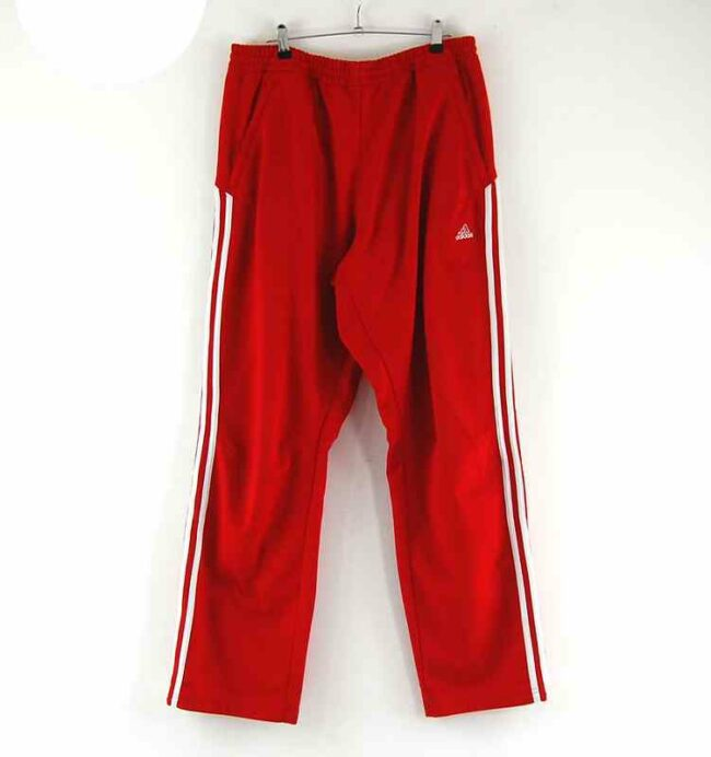 Red Adidas Tracksuit Bottoms