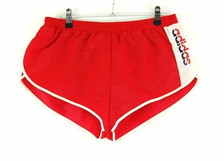Red Adidas shorts