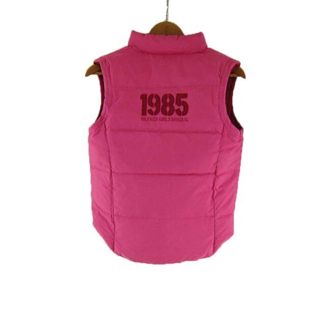 Reverse back of Ladies Pink Reversible Tommy Hilfiger Puffer Vest
