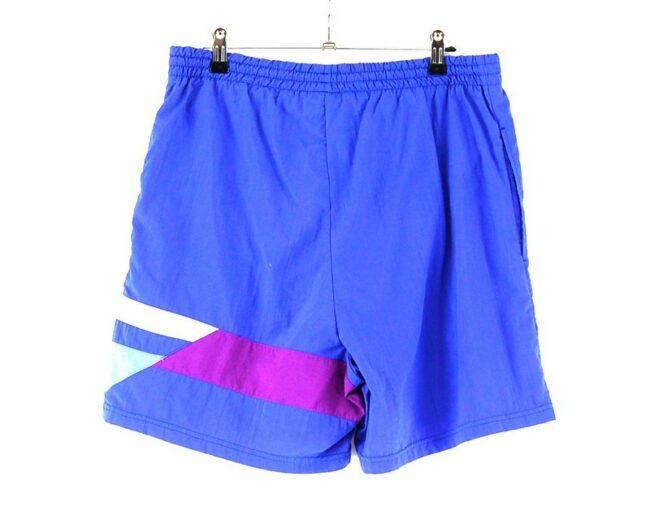 Back of Purple Adidas Retro Shorts
