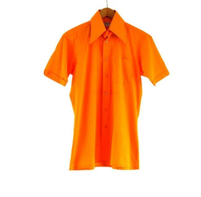 70s Orange Short Sleeve Shirt