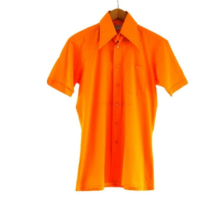 70s Orange Short Sleeve Shirt