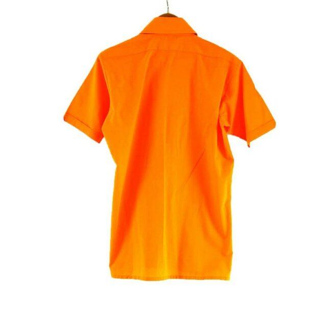 Back of 70s Orange Short Sleeve Shirt