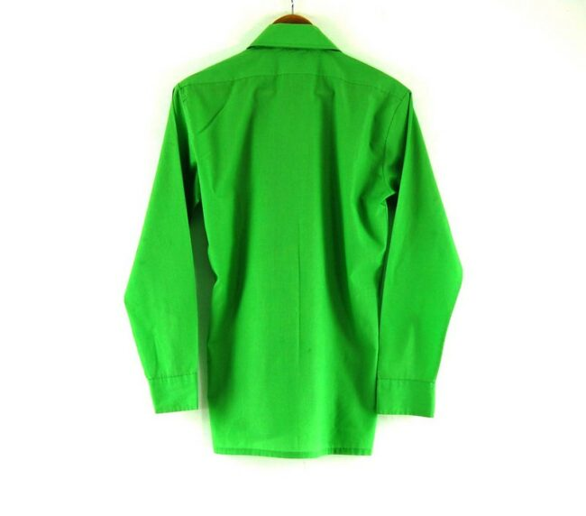 Back of 70s Green Shirt With Pointed Collar