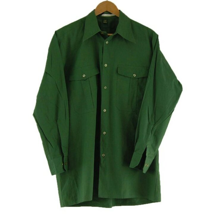 70s Green Safari Shirt