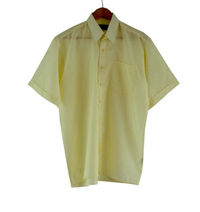 70s Cream Short Sleeve Shirt