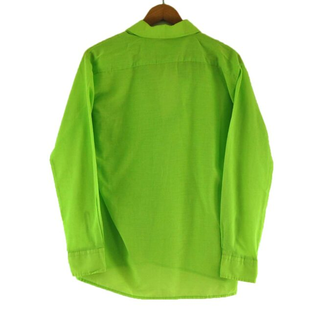 Back of 70s Lime Green Shirt