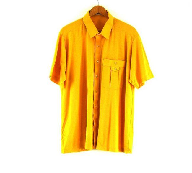 70s Yellow Short Sleeved Shirt