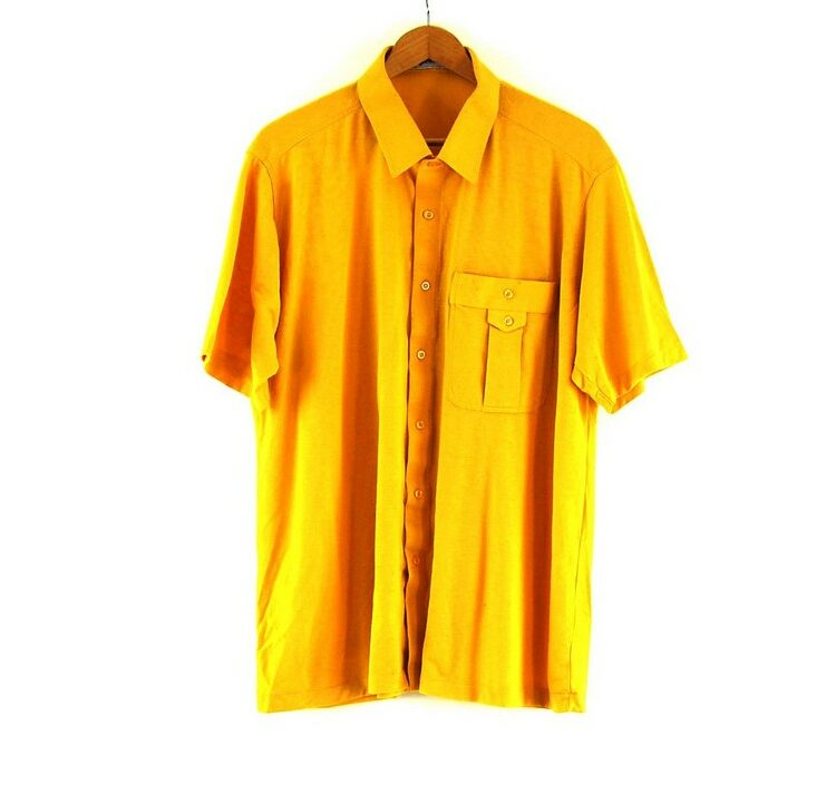 70s Yellow Short Sleeved Shirt