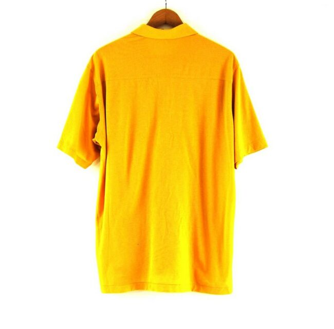 Back of 70s Yellow Short Sleeved Shirt
