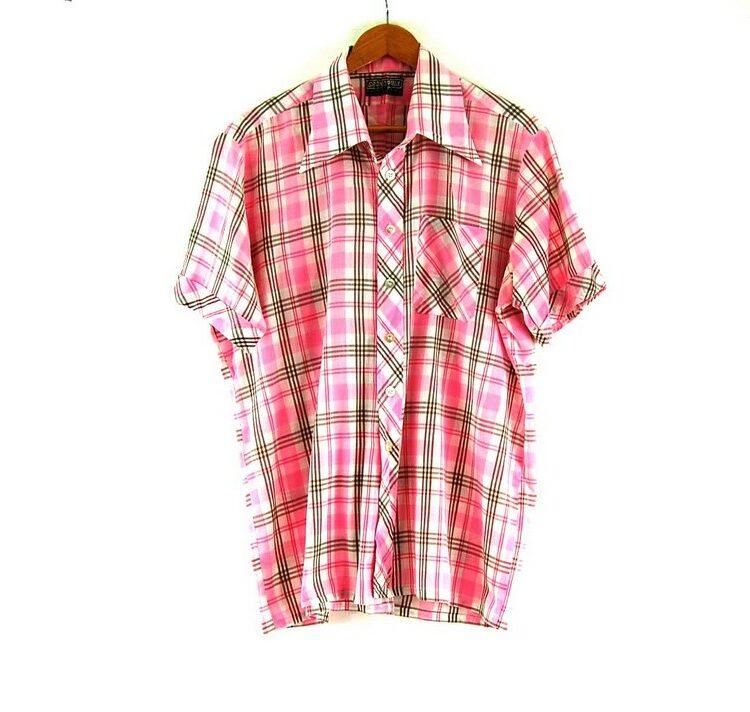 70s Pink Check Shirt